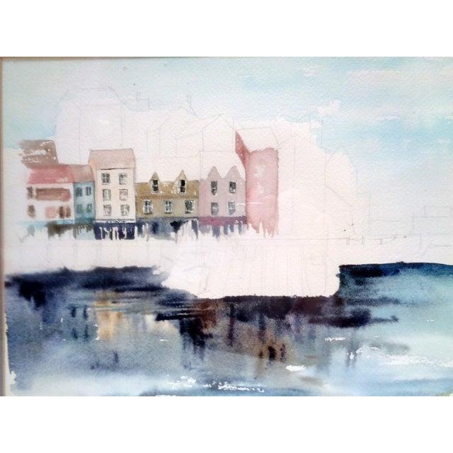 "Original watercolor painting of Seattle area ""Warfs"" by artist Karen Stevens (Washington/Texas, 1950-2017). Wonderful..."