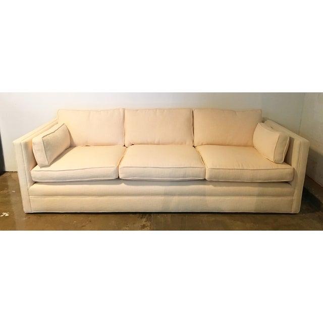 Knoll Tuxedo Linen Sofa - Image 3 of 10