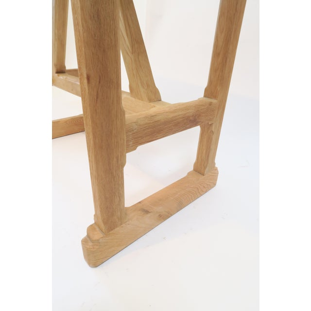 Martin & Brockett Short Trestle Wood Table - Image 7 of 7