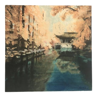 Japanese Landscape Series 2 Painting For Sale