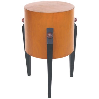 Memphis Art Deco Style Pedestal Side Table For Sale