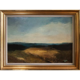 Vintage Swedish Abstract Landscape Painting For Sale
