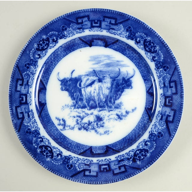 Ceramic Vintage Mixed Flow Blue Dinner Plates - Set of 8 For Sale - Image 7 of 10