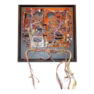 Mid 20th Century Component Art Circuit Wall Sculpture. Bill Reiter.
