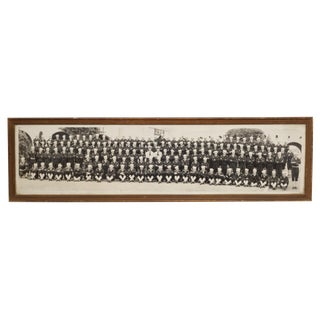 Large WWll Navy Photograph in Original Frame C. 1940 For Sale