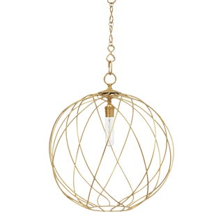 "Gail 20"" Hanging Pendant Light - Brass For Sale"