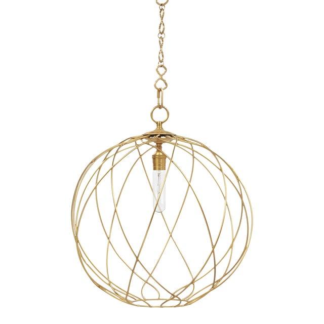 "Gail 20"" Hanging Pendant Light - Brass For Sale"