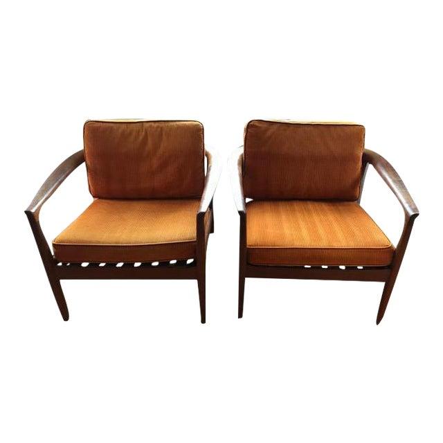 Dux Danish Modern Teak Barrel Back Chairs - a Pair For Sale