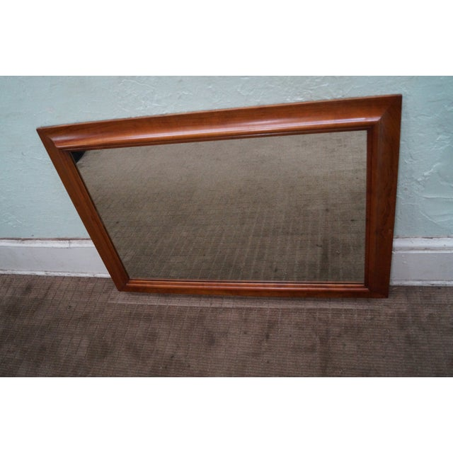 Stickley Solid Cherry Frame Rectangular Mirror For Sale - Image 10 of 10