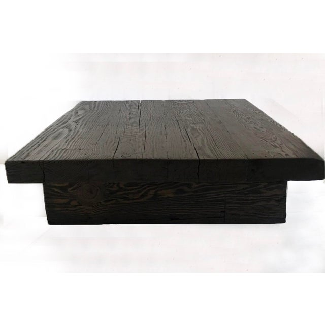 Rustic Dos Gallos Custom Reclaimed Wood Rustic Modern Coffee Table For Sale - Image 3 of 7