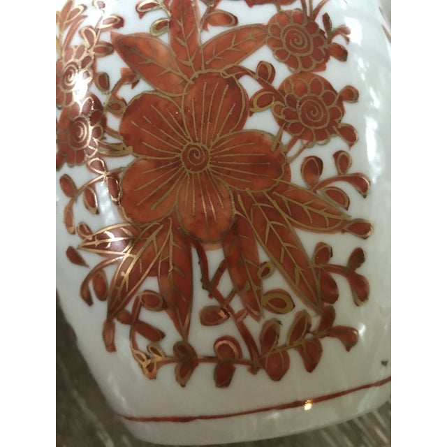 Asian Painted Porcelain Ginger Jar Vase - Image 8 of 11