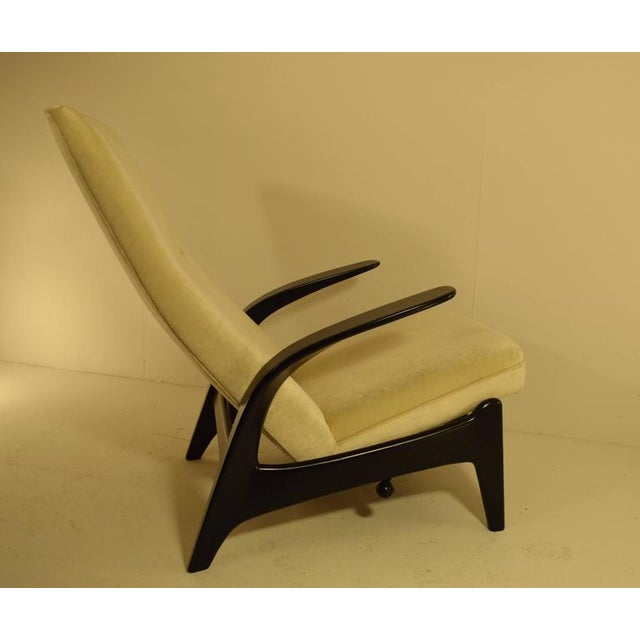 Gimson and Slater Ltd Sculptural Gimson and Slater Rock'n Rest Lounge Chair For Sale - Image 4 of 8