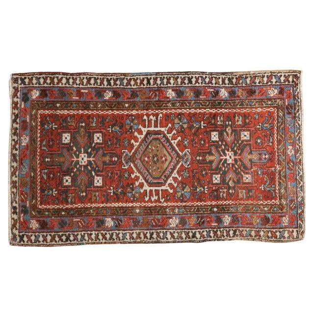 "Vintage Persian Karaja Rug - 2'4"" X 4' - Image 1 of 7"