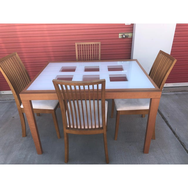 """ESF """"Poker"""" Expandable Dining Table & Chairs Set"""