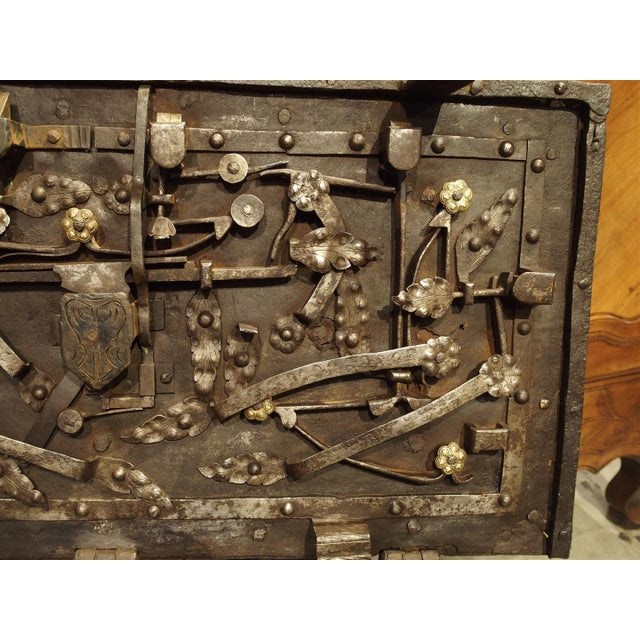 17th Century Iron Strongbox from a Ship For Sale - Image 10 of 11