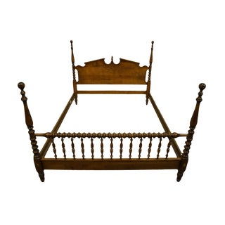 Ethan Allen Classic Manor Four Poster Queen Size Bed For Sale