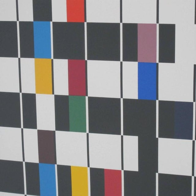 Agam Yaacov Yaacov Agam Signed 1980s Color Serigraph, Titled One and Another For Sale - Image 4 of 8