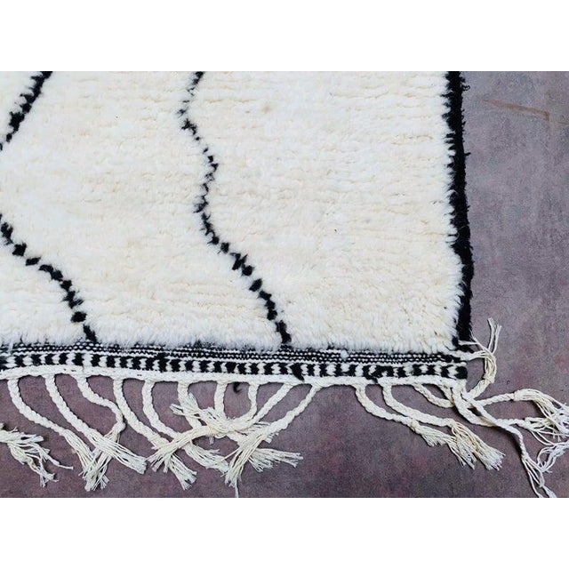 Authentic Berber Morocco Rug - 5′7″ × 8′ For Sale - Image 4 of 8