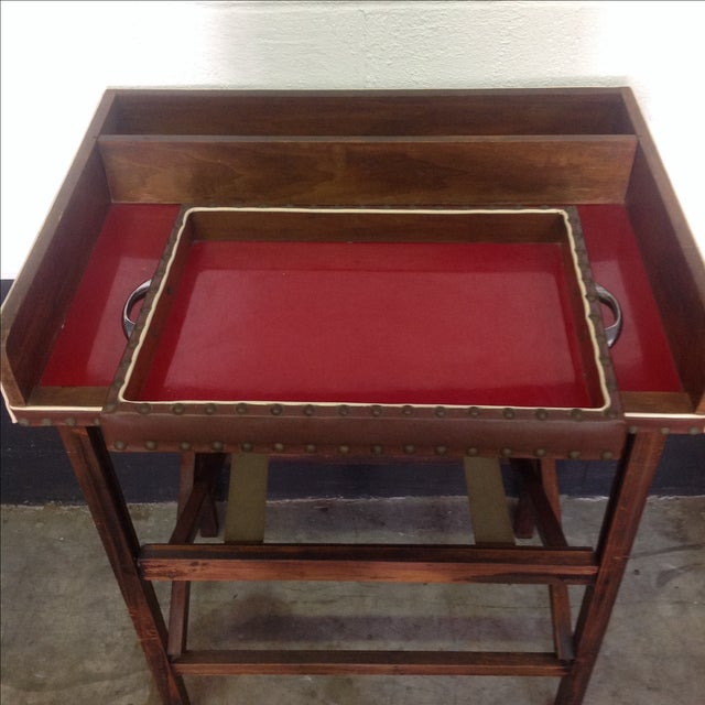 1950's Walnut and Acrylic Folding Bar For Sale In Austin - Image 6 of 10