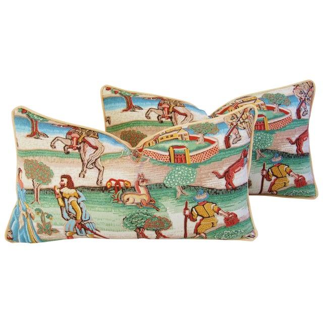 Designer Brunschwig & Fils Pillows - Pair - Image 1 of 8