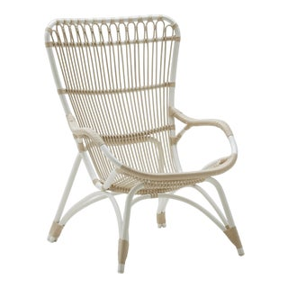 Monet Exterior Highback Chair - Dove White For Sale