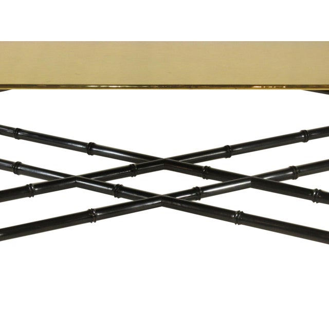 Metal 1960s Regency Style Brass Tea Table For Sale - Image 7 of 11