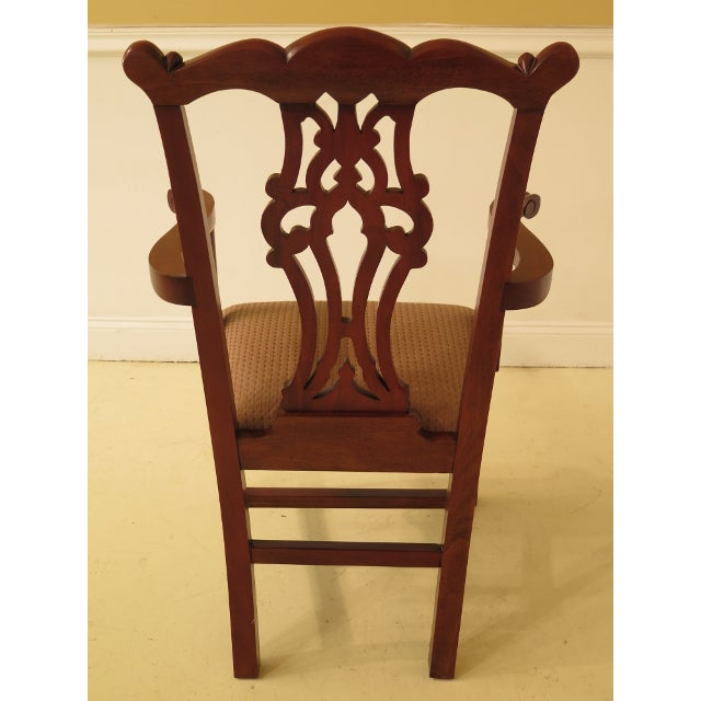 Ej Victor Chippendale Style Mahogany Dining Chairs - Set of 8 For Sale In Philadelphia - Image 6 of 13