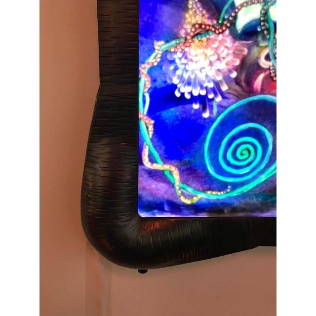 "Signed Original Ulla Darni Illuminating Flat Glass Painting ""Han and Hanini"" For Sale - Image 4 of 11"