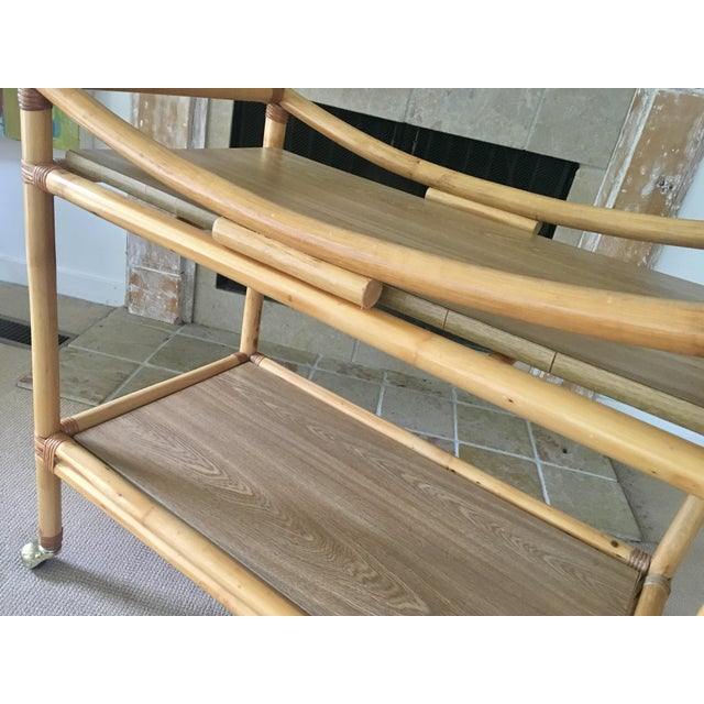 Mid-Century Bamboo Bar Cart For Sale - Image 5 of 10