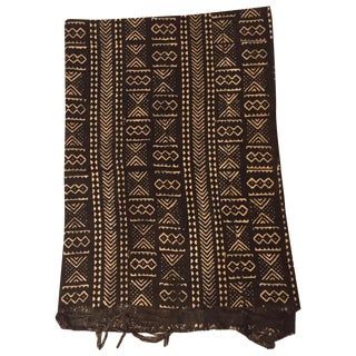 Black & Ivory African Mud Cloth For Sale