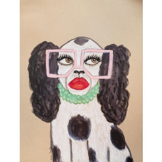 """""""Sassy Staffordshire Spaniel"""" Mixed Media Drawing For Sale"""