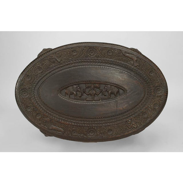 Asian Burmese Style Ebony Low Center Table For Sale - Image 10 of 12