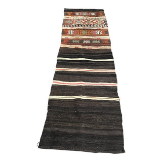 Turkish Antique Handwoven Runner Rug - 2′1″ × 7′9″ For Sale