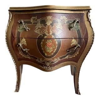 Vintage French Louis XVI Bombay Chest Commode For Sale