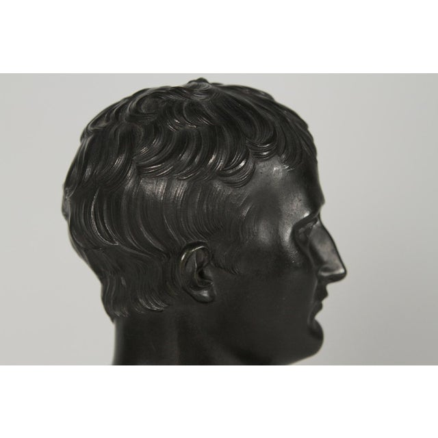 1900's Traditional Bronze Bust on a Marble Base For Sale - Image 9 of 10