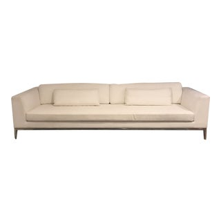 Restoration Hardware Modern Italia Taper Arm Sofa For Sale