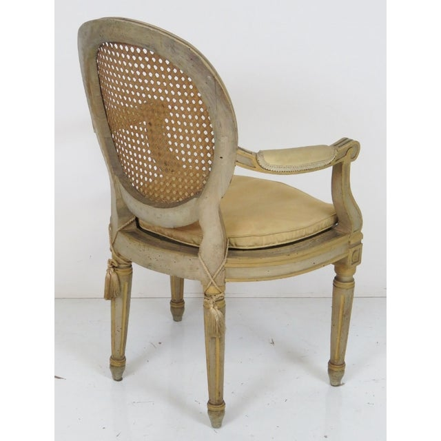 Antique Louis XVI Style Caned Fauteuils - Pair - Image 7 of 7