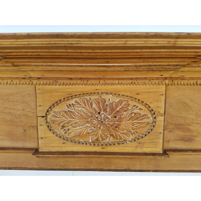 Beautiful original Federal period mantle. Stripped to natural wood. Very tasteful. Made in the early 19th century