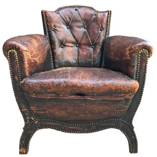 Leather Club Chair by Otto Schulz For Sale