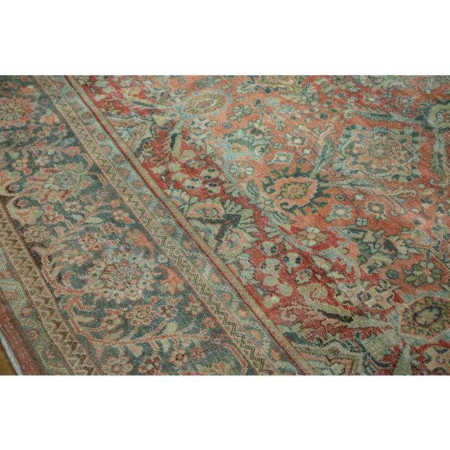 "Vintage Distressed Mahal Carpet - 10'8"" x 13'8"" - Image 6 of 10"