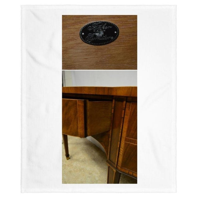 Mahogany Baker Furniture Stately Homes Collection Mahogany Inlaid Sideboard For Sale - Image 7 of 11