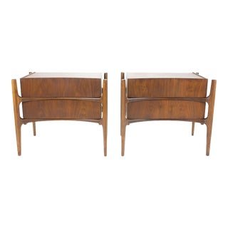 Mid Century Modern Nightstands by William Hinn-A Pair For Sale