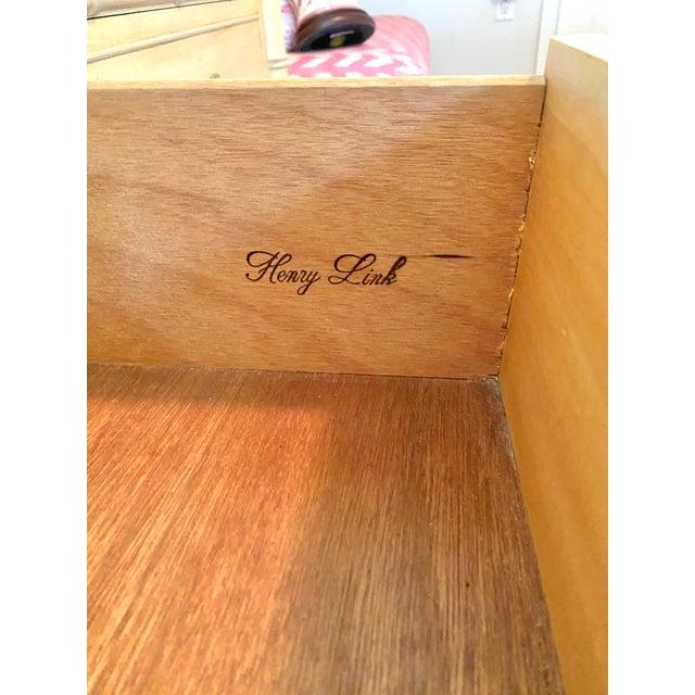 "Light Yellow Henry Link ""Bali Hai"" Dresser & Mirror Set For Sale - Image 8 of 13"