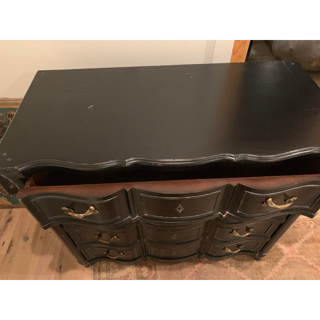 Brass Williams-Sonoma Exclusive French Ebony Dresser For Sale - Image 7 of 9