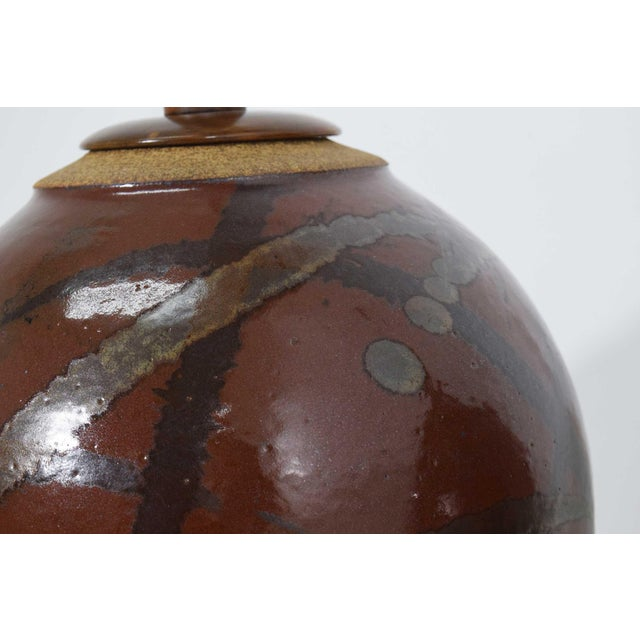 Brent Bennett Ceramic Glaze Table Lamps - a Pair For Sale In Dallas - Image 6 of 11