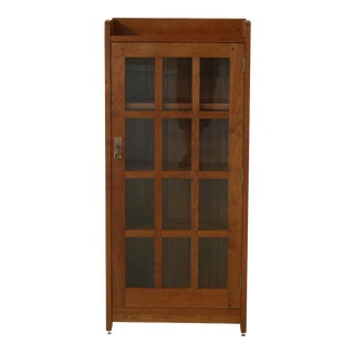 Stickley Mission Cherry 1 Door Bookcase For Sale