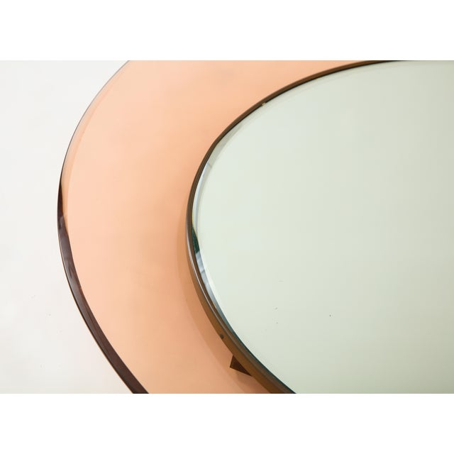 Glass Circular Wall Mirror by Max Ingrand for Fontana Arte For Sale - Image 7 of 9