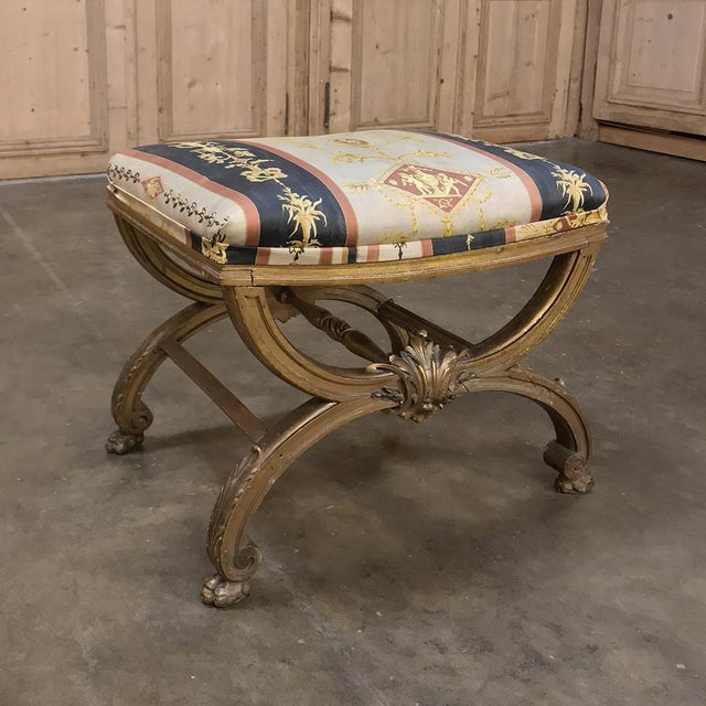 19th Century Giltwood Vanity Stool For Sale - Image 11 of 11