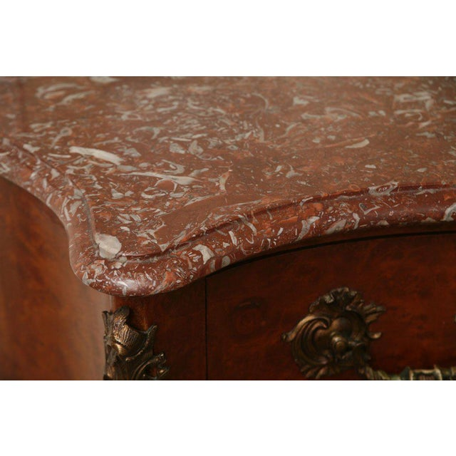 Antique Louis XV Chest of Drawers With Verona Marble Top For Sale - Image 10 of 10