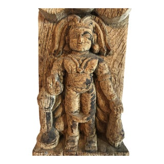 Antique Indonesian Hand-Carved Architectural Detail Mythical Figure For Sale